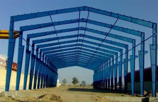 پروژه طراحی سوله به عرض ۲۸ متر با جرثقیل ۵ تنی